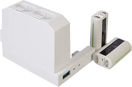 AmazonBasics -  Cargador de batería de mando (para consola Xbox One S),  blanco