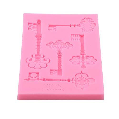 Vektenxi Premium Qualität 3D Vintage Schlüsselrahmen Silikonform Kuchen Fondant Backen Dekor Mold Küche Gebäckwerkzeug Vintage Küche Dekor