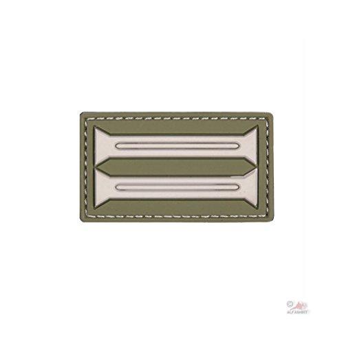 Copytec Kragenspiegel Patch 3D Rubber Uniform Militär Kennzeichnung Truppen Weltkrieg Einheit Offizier Wappen 5x3cm #23008