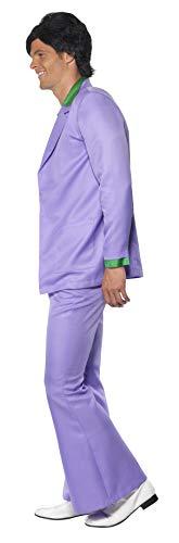Lavendel 1970er Jahre Anzug Kostüm Jacke mit Mock Hemd und Weste Hose, Large - 7
