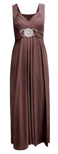 Chocolate Pickle ® Femmes cravate Retour à long Soirée Buckle Maxi 36-54 brown