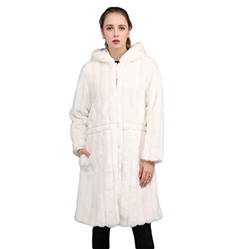16ad5f80a2062 YuanDian Donna Inverno Lungo Cappotto in Pelliccia Sintetica Parka con  Cappuccio Slim Fit Elegante Tinta Unita