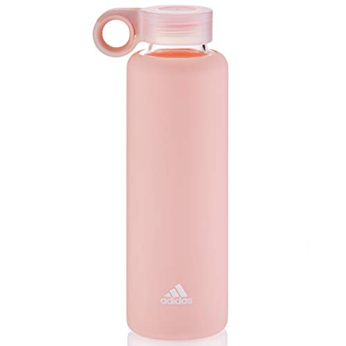 adidas Glass Trinkflasche, Clear Orange, 410ml