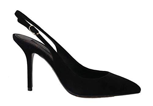Dolce & Gabbana - Damen Schuhe - Pumps Black Suede Leather Slingbacks Heels- EU 39 Dolce & Gabbana Print-heels