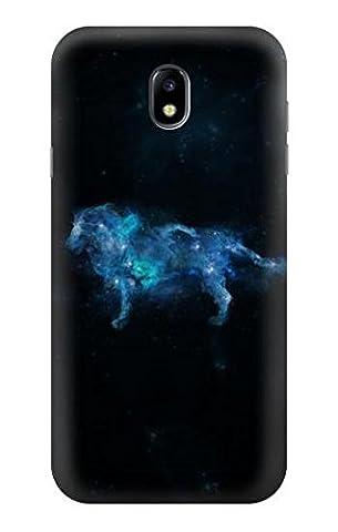 Leo Zodiac Hülle Schutzhülle Taschen für Samsung Galaxy J7 (2017) EU Version (Zodiac Tasche)