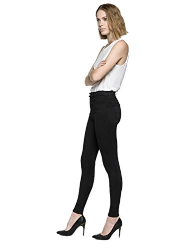 REPLAY Touch Dark Black, Skinny Jeans Donna Nero