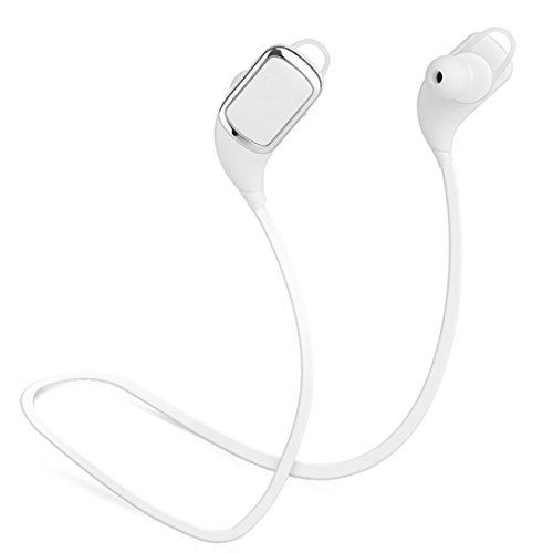 Joyeer Bluetooth Stereo Musik Kopfhörer Ohrhörer Headset in-Ear Noise Reduzierung Ohrhörer mit MIC für Smart Handy , white Voip-in-ear-headset