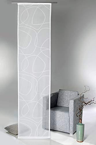 heimtexland® - Cortina para Panel japonés, diseño Abstracto, Incluye Accesorios, 60 x 245 cm, Color Blanco Natural, Tipo 595