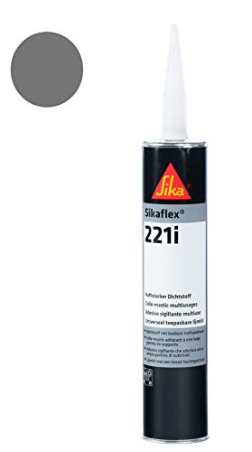 Sikaflex-221i,  Haftstarker Dichtstoff, 300ml, Stahlgrau