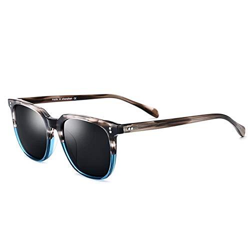 re Polarized Sonnenbrille, Retro Classic Trendy 100% UV-Schutz Ideal Für Autofahren Oder Sportliche Aktivitäten,Blue ()