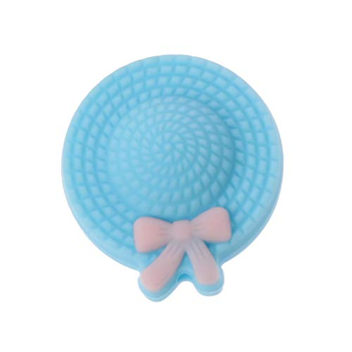 JunYe Mini Hut Baby Beißring Silikon Perlen Kinderkrankheiten BPA Frei DIY Schnuller Kette Perlen Teathing Spielzeug Silikon Beißring Großhandel - Blau