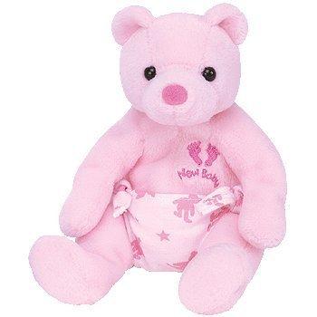 TY - BEANIE BABY - IT'S A GIRL / BABY - TEDDY/BÄR - Rosa - Plüschtier - ca. 17 cm (Bär Beanie Baby Ty)