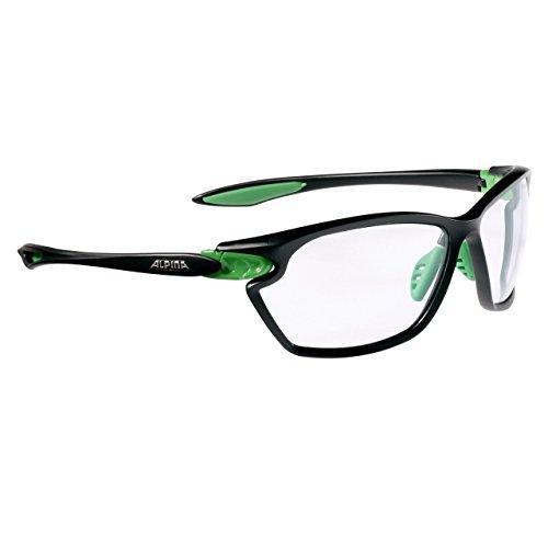 Alpina Performance Twist Four 2.0 VL+ Sonnenbrille, Black Matt-Green