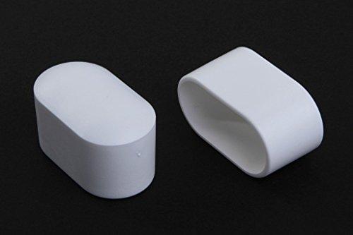 12 Stück Livindo Stuhlbeinkappe Stuhlbeinschutz Bodenschutz Abdeckkappe 38 x 20 mm, Weiss, aus Kunststoff