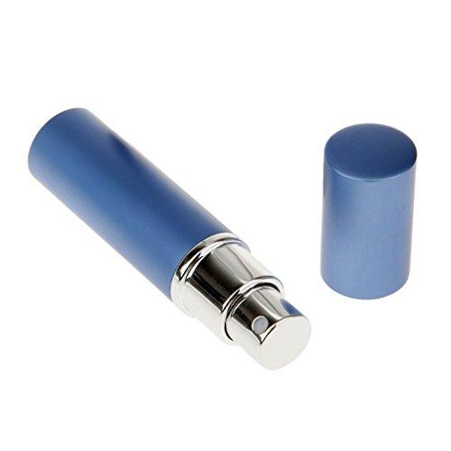 Dolity Vaporisateur Vide à Lotion Aprés Rasage Atomiseur de Parfum Flacon de Huile Essentielle en Aluminium pour Homme et Femme - 6 ml - Bleu