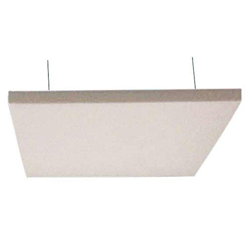 Horch Akustik Deckensegel, Schallabsorber, mit Aufhängung, unterschiedliche Größen, 4000g/m², 120 x 120 x 5 cm weiß -