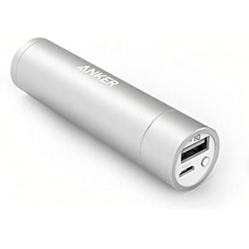 Anker PowerCore+ mini (3350mAh Premium Aluminum Portable Charger) Lipstick-Sized External Battery Power Bank for iPhone 6 / 6 Plus, iPad Air 2 / mini 3, Galaxy S6 / S6 Edge and More (Silver)