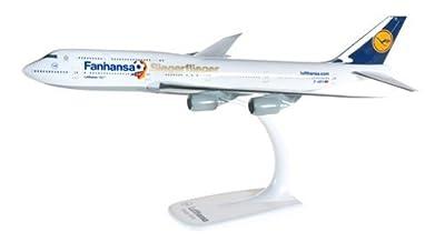 Herpa 610513 Luthansa Boeing 747-8 Intercontinetal Fanhansa Siegerflieger 1:250 Snap-Fit Model by Herpa von Herpa