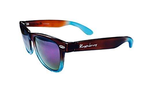 RAYMINDER.ORG Original Sonnenbrille Durchscheinend Blau, gemischt mit sattem Braun. Einheitsgröße