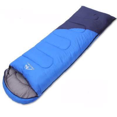 HAO XIAN SHENG Splicable Envelope Type 4-Jahreszeiten-Schlafsack aus hohler Baumwolle,Blue,1.4KG