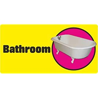 Advanced Printing Dementia Friendly Self-adhesive Bathroom sticker sign for Alzheimers and Partially Sighted (Standard 250x125 mm)