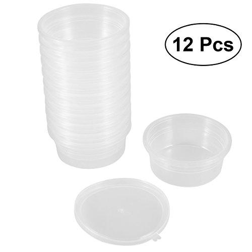 ROSENICE Slime Lagerbehälter Schaumstoff Ball Kunststoffbox Lagerbehälter mit Deckel für 20g Schlamm 12 Pack (Große Kunststoff-lagerbehälter Mit Deckel)