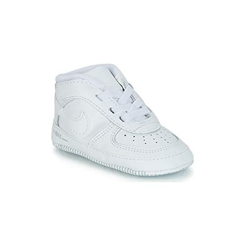 Nike Unisex Baby Force 1 (CB) Sneaker, Weiß White 100, 17 EU