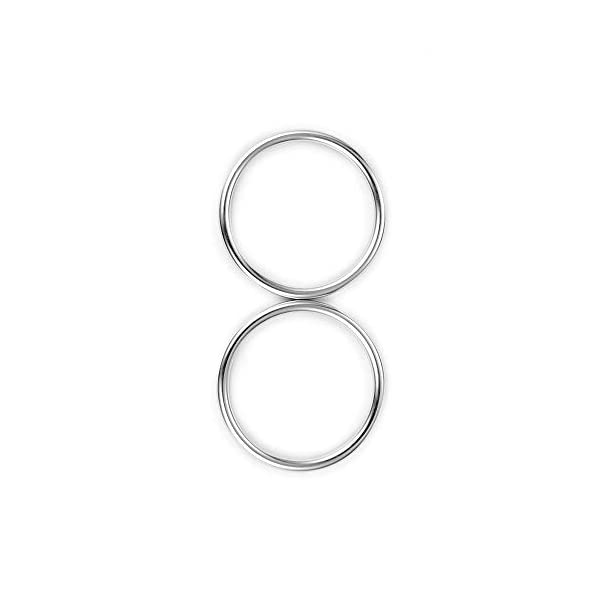 """Topind 3"""" Large Size Alumnium Baby Sling Rings for Baby Carriers & Slings of 2 pcs Bright Silver TOPIND Great replacement aluminium rings for your baby sling rings Get a much more intimate way to touch your baby You can choose the color you like 1"""