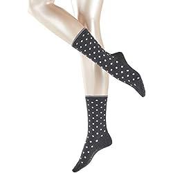 Esprit Melange Dot Socks Calcetines, Mujer, Negro (Black 3000), 35/38 (Talla del Fabricante: 35-38)