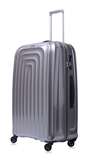 lojel-wave-polycarbonate-large-upright-spinner-luggage-silver-one-size