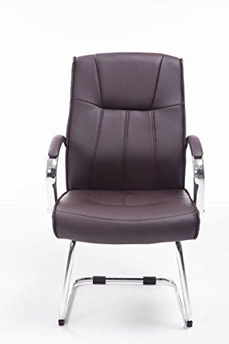 CLP Besucher Freischwinger-Stuhl BASEL V2 mit Armlehne – gepolstert braun - 2