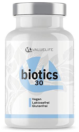 Darmkur Komplex - 30 aktive Bakterienkulturen zur Pflege der Darmflora - 60 magensaftresistente Kapseln von VALUELIFE -