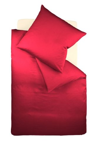 fleuresse G-009200-4580-0300 Interlock Jersey Bettwäsche colours Uni 155 x 220 cm bordeaux (Aus Nadel Interlock)