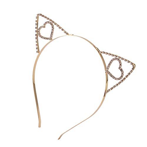 Beaupretty Strass Katze Stirnbänder Katze Ohren Haarband Kristall Haarband Party Dekoration Kopfschmuck Cosplay Kostüm Headwear ()