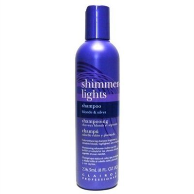 Clairol Silver Shampoo (Clairol Shimmer Lights 8oz. Shampoo (Blonde&Silver) (2 Pack) by Clairol)