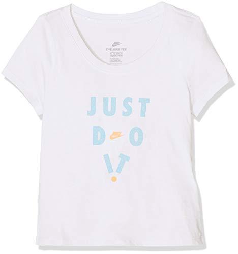 Nike Mädchen Scoop JDI Eye T-Shirt, White, M
