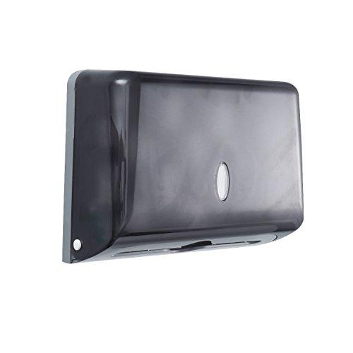 OUNONA - Portarrollos de papel de seda de pared para baño, contenedor de papel, dispensador de toallas de papel (gris)