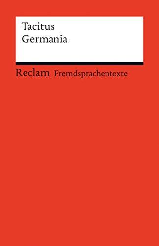 Germania: Reclams Rote Reihe – Fremdsprachentexte
