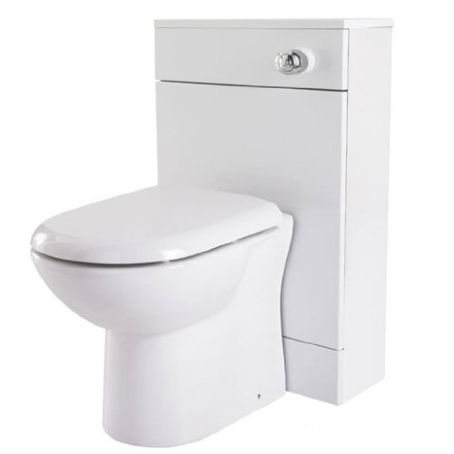 Manila Gloss White 600mm Wide x 300mm Deep Back-to-Wall Toilet Unit