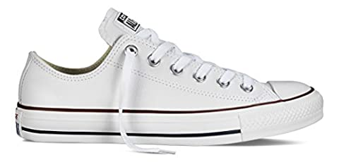 Converse Chuck Taylor Core Lea Ox, Unisex - Erwachsene Sneaker, Bianco (Blanc), 39.5 EU