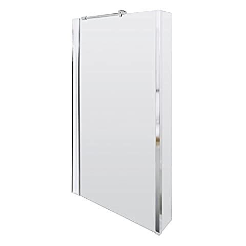 Premier 1400mm Quattro Fixed Bath Screen-5mm Toughened Safety Glass