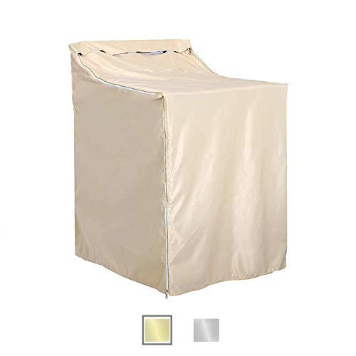 QLLY Wasch-/Trocknerbezug für Toplader Maschine - wasserdicht, staubdicht, sonnensicher, 27 x 84 x 39 cm gold -