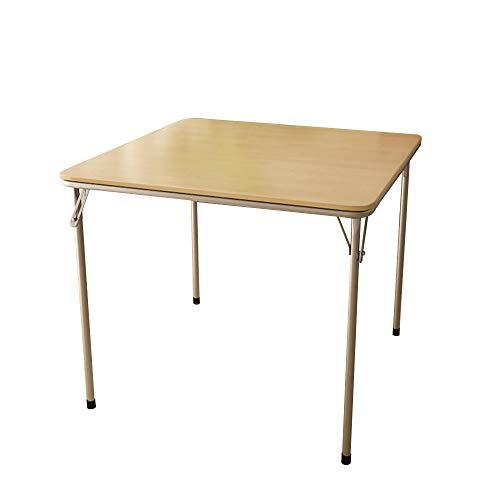 LVZAIXI Table Pliante carrée, Table de Salle à Manger, Pattes Pliantes, Noir, Brun, 85 * 85 * 71cm (Couleur : Brown)