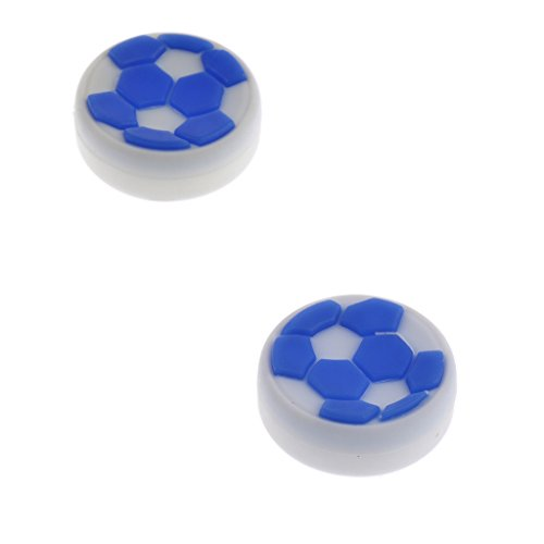 MagiDeal Thumb Stick Grips Cap Cover Joystick Thumbsticks Caps For XBOX ONE XBOX 360 Blue And White
