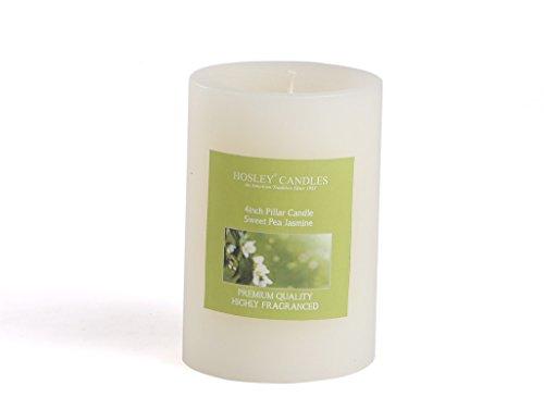 Hosley® Sweet Pea Jasmine Highly Fragranced 4inch Pillar Candle