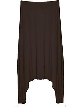 Re Tech UK donna goccia cavallo basso pantaloni stile harem LARGO Alibaba LOOK a strati