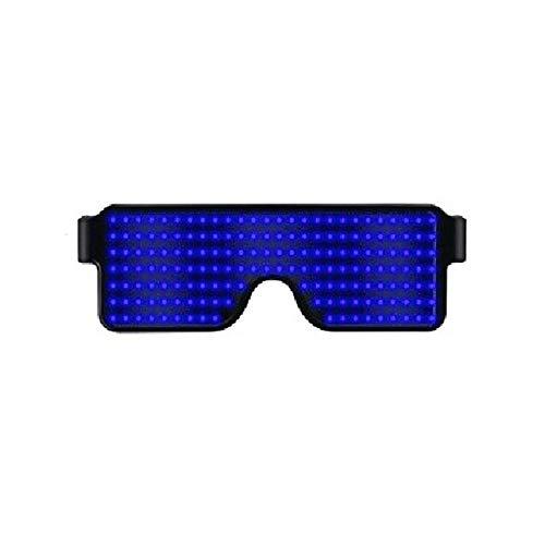 (FOONEE LED-Sonnenbrille, Neon Glow Blinkende LED Leuchten Gläser für Partys, Festivals, Spaß, Sport, Kostüme, EDM Dekorationen)