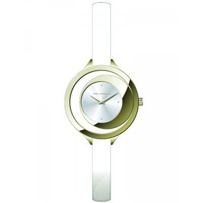 Ted Lapidus–a0637pbpf–Reloj Mujer–Cuarzo Analógico–Reloj color blanco–pulsera piel blanco