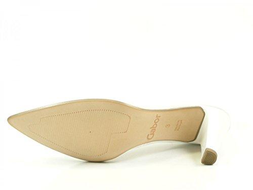 Gabor 41-280 Schuhe Damen Lack Pumps Weite F Weiß