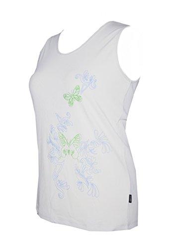 Schneider Sportswear Damen Mette Rippshirt Shirt Top Achselshirt Bodyline weiß/ciel